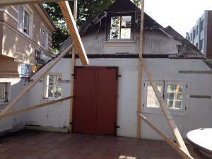 Baustelle - Reetdach-Haus in Duhnen